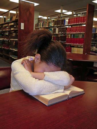 Child fell asleep while studying photo