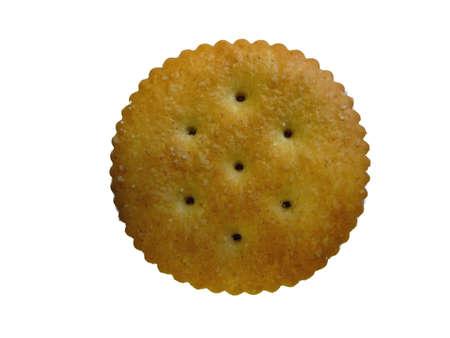 Isolated Round Cracker Фото со стока