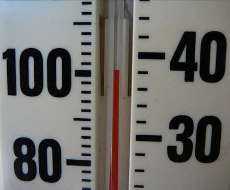 Thermometer reading 101 degrees Banco de Imagens