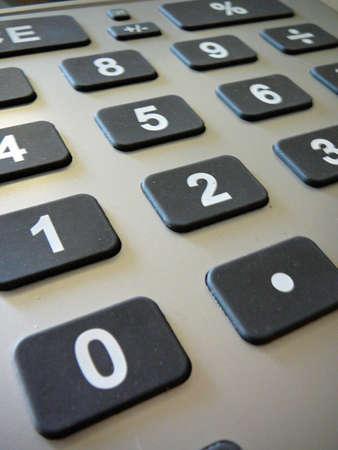 Closeup of calculator keys