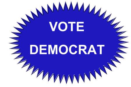 民主党の投票のステッカー