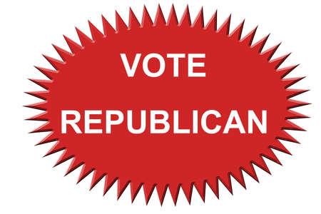 共和党の投票のステッカー
