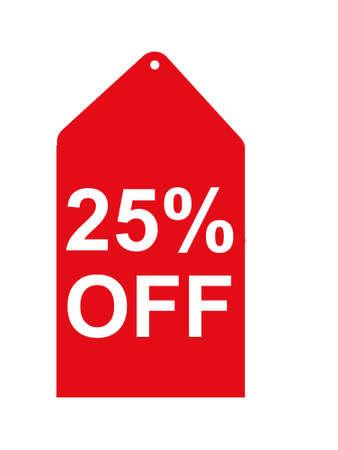 25 percent off tag Stock fotó