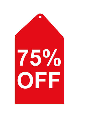 75 percent off tag