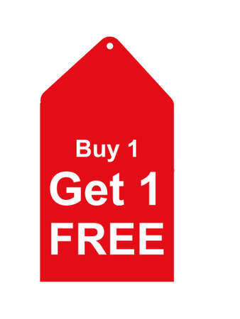 get one: Buy one get one free Stock Photo