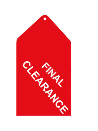 final Clearance sales tag Stock fotó