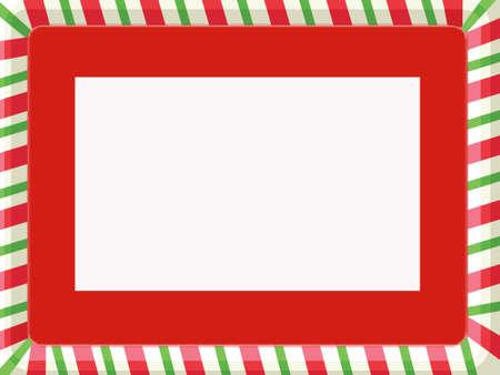 빨간 매트와 함께 크리스마스 프레임
