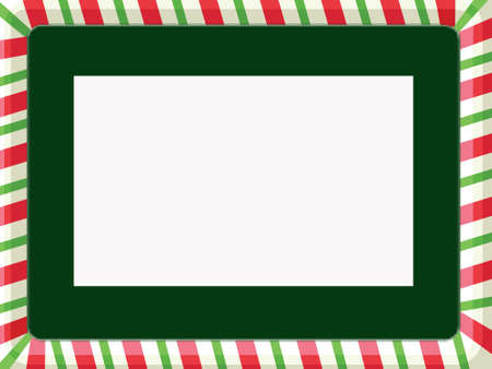 Christmas frame with green mat