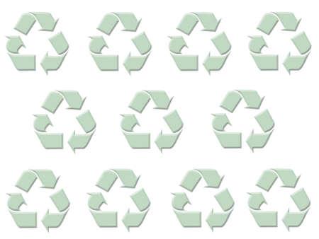 Recycle symbol background Stock fotó