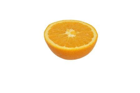 Orange half isolated on white background