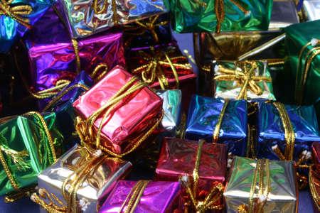 Christmas Boxes Background Zdjęcie Seryjne