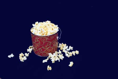 Christmas Tin of Popcorn  Banco de Imagens