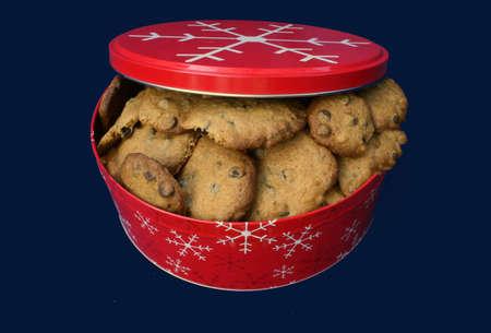 Christmas tin of Chocolate Chip Cookies
