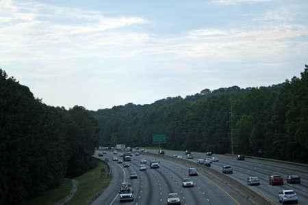 Tráfico de la autopista Foto de archivo - 8262589