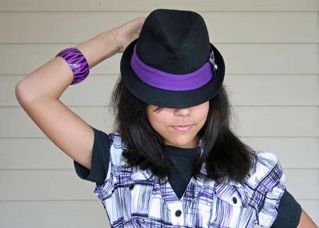 teenaged: Portrait of a Teenaged Girl Stock Photo