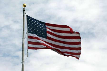 American Flag Zdjęcie Seryjne