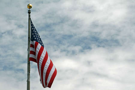 the u s  flag: American Flag Stock Photo