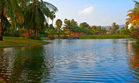 Tropical lake Stock Photo