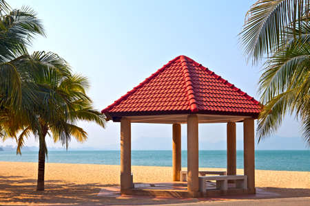 Pergola on the beach