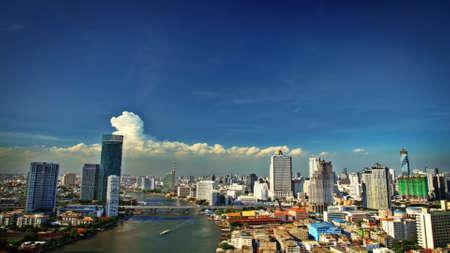 Modern cityscape Bangkok city view Stock Photo