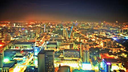 Nigth sky over the city