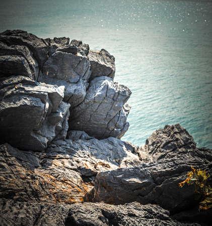 Rocks and sea. Summer nature scene