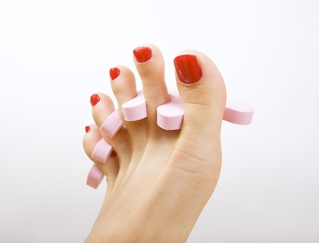 red pedicure  photo