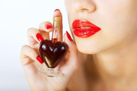 woman holding elixir of Love photo