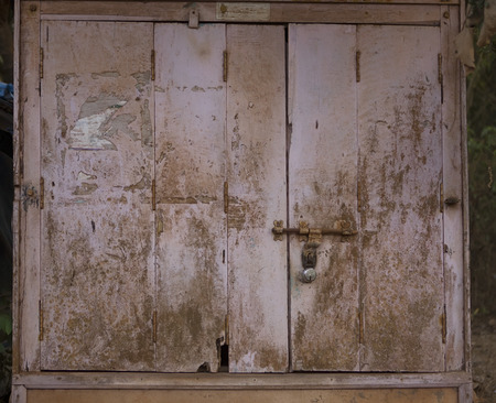 fanlight: The Old wooden Door with Cracked Paint, Background