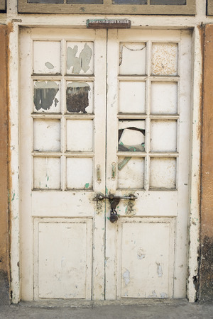 transom: The Old wooden Door with Cracked Paint, Background