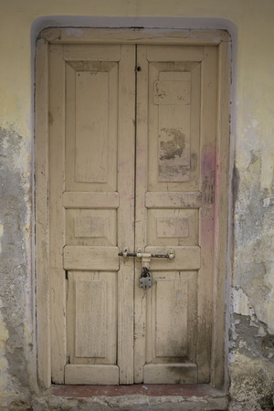 The Old wooden Door with Cracked Paint, Background
