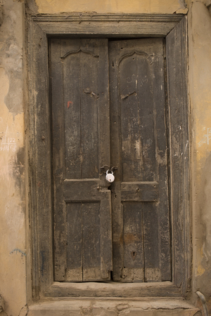 The Old Cracked wooden Door, Background Stock Photo