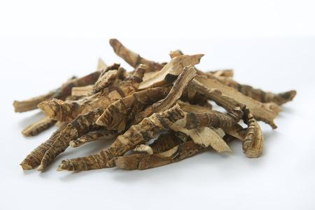 Calamus racine ou Drapeau Sweet. Flagroot (Acorus calamus). Ayurveda and Alternative Medicine - Mytle Grass. Médicaux herbes et de racines sèches Banque d'images - 48196658