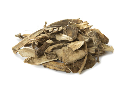 Nard root. Ayurveda and Alternative Medicine - Elecampane Root close-up. Medical Dry Herbs