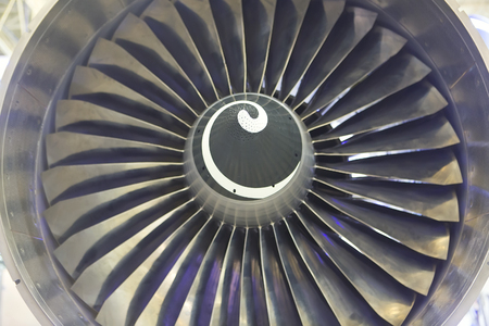 airscrew: Detail of a Steel Plane Jet, close up