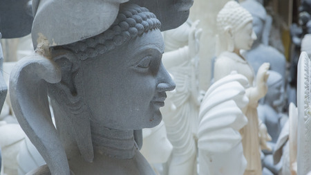hindu gods: Statues of Hindu Gods and Goddess. Crafts and Arts of India. Murti handmade Manufacturing in Jaipur (Rajasthan). Indian God sculpture made of white marble. Ancient Traditions and Crafts of India
