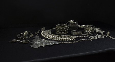 Beautiful Silver jewelry (Indian, Arab, African, Egyptian). Fashion Exotic Accessories, Asian Silver jewelry. Tribal Jewelry for belly dance oriental costumes. Necklace, Earrings, Bracelets.