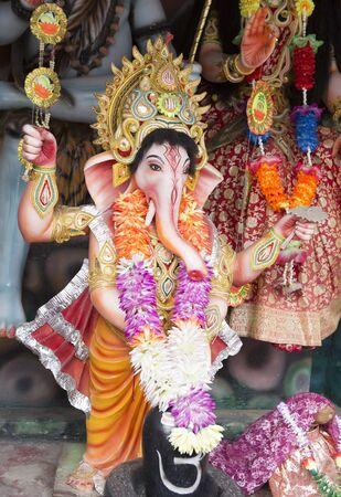 Ganesha (Ganapati). Statues of Hindu Gods and Goddess in Ayodya. Murti in hindu temple. Indian God sculpture. Spiritual Traditions of India.