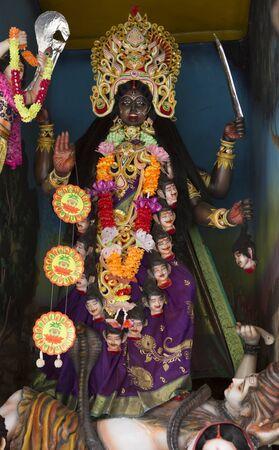 Kali Ma. Statues of Hindu Gods and Goddess in Ayodya. Murti in hindu temple 版權商用圖片