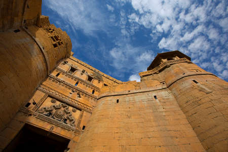 Jaisalmer Fort in India. Beautiful Ancient Indian fortification Architecture. Hill Forts of Rajasthan. View of the military indian fort. Éditoriale