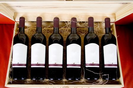 case: Case of Wine Stock Photo