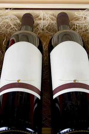 Two Bottles of Wine Stock Photo - 700660