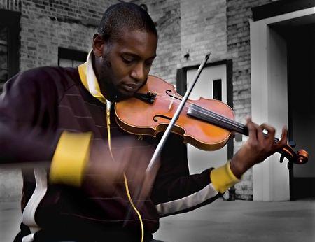 Violinista  Archivio Fotografico - 713545
