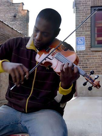 Violino Player  Archivio Fotografico - 713543
