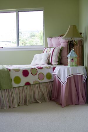 A young girls bedroom