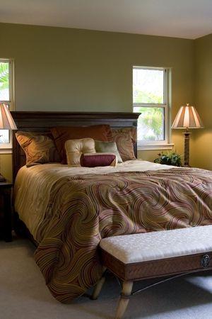 A luxury master bedroom.