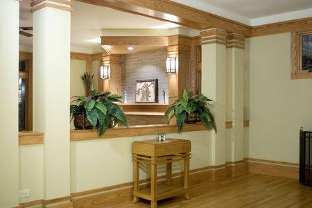 Hallway of an elegant home.
