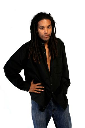 African American male with dreadlocks. photo