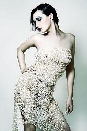A cool tone fashion woman.