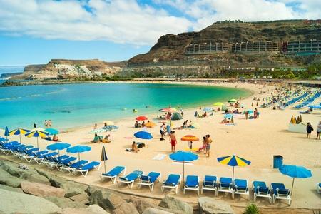 gran: View over Amadores beach on Gran Canaria, Spain